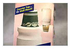 Vintage Dixie Wall Mount Bathroom Cup Dispenser Refill Other