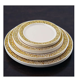 About Plastic 10.25  ROUND PLATES Lacey Trim Party Wedding Disposable .  sc 1 st  Towels and other kitchen accessories - .towelsand.com & Elegant Disposable Dinnerware | Towels and other kitchen accessories