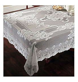 Vinyl Lace Tablecloth Rectangle Towels And Other Kitchen