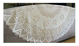 Vinyl Plastic Lace Tablecloth 60 Round By LaurasLastDitch On Etsy .