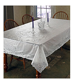 Violet Linen Vinyl Lace Betenburg Design Tablecloth U0026 Reviews .